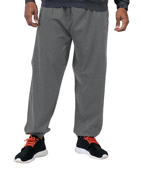2649d180 love this product Heather Gray Elastic-Cuff Sweatpants - Men, Big & Tall