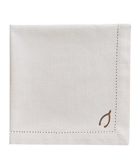 Split P Wishbone Embroidery Napkin