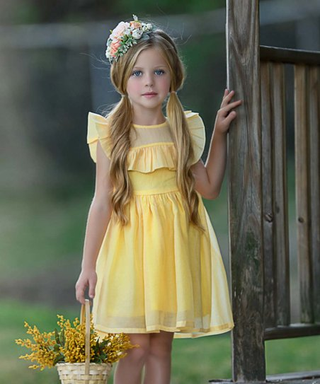 8dc961fdf Think Pink Bows Pale Yellow Kendall Dress - Infant, Toddler & Girls ...
