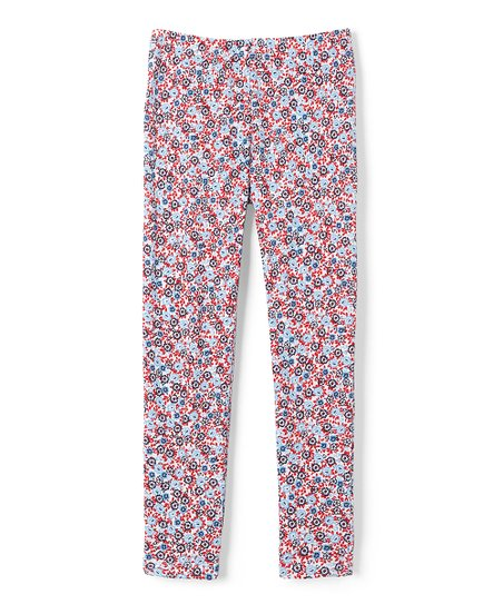21f4c37c09e66 French Toast Pale Blue Abstract Capri Leggings - Girls | Zulily