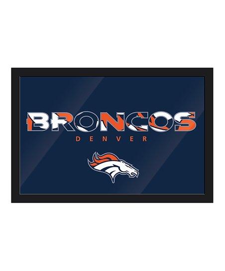 Denver Broncos Abstract Framed Wall Art