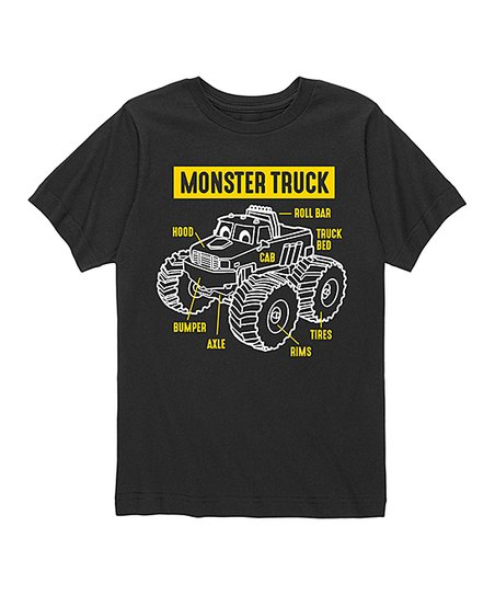 Instant Message Black Monster Truck Parts Tee - Kids | Zulily