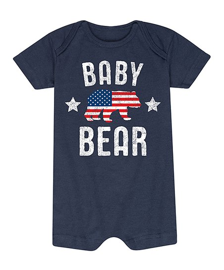 efbb0fddd775 love this product Navy Patriotic  Baby Bear  Romper - Infant