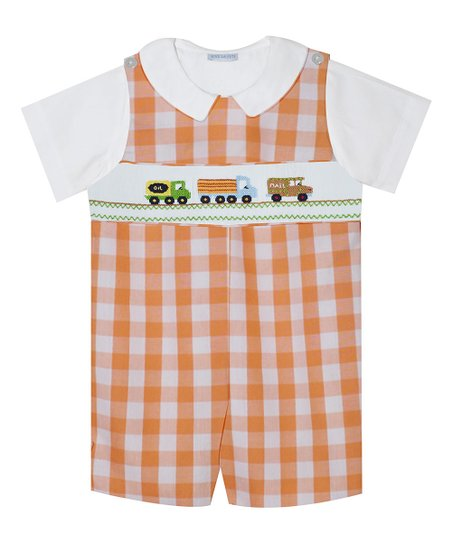 Vive La Fete Transportation Smocked Boys Shortall