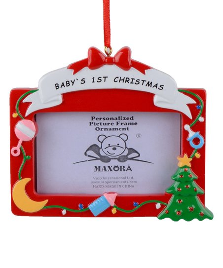 Maxora Babys First Christmas Photo Frame Ornament Zulily