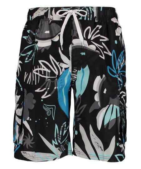 c6d9672342 Kanu Surf Black Baja Floral Swim Trunks - Men