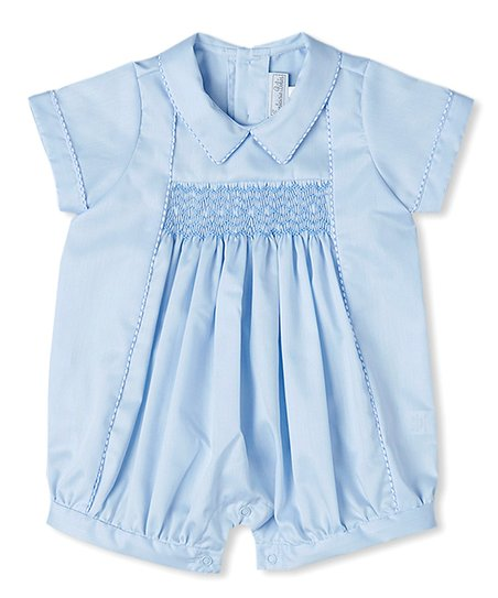 c4a03f07746 Fantaisie Bebes Blue Smocked Bubble Romper - Infant
