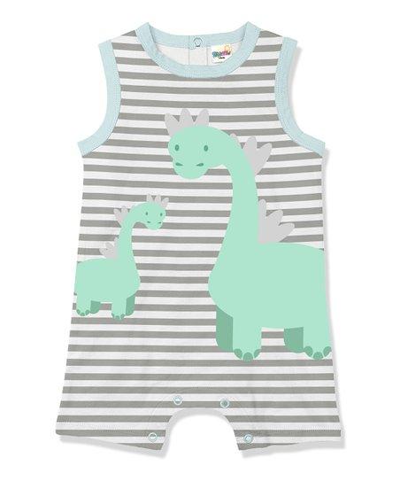 bfa18c0948d love this product Gray   White Stripe Dino Romper - Infant   Toddler