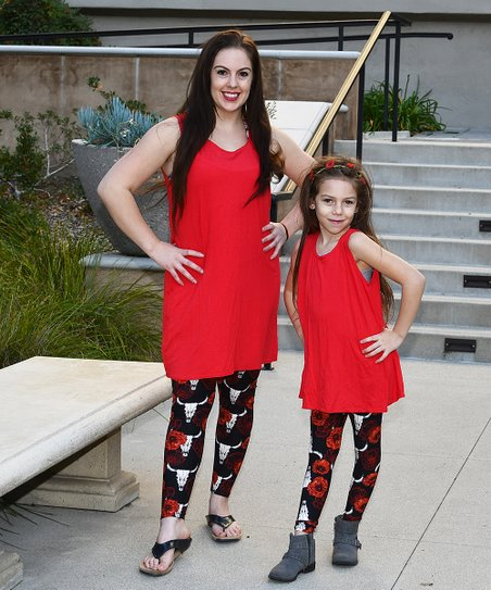 d5195095c89b9 love this product Red Tank Tunic & Cow Skull Leggings - Toddler, Girls,  Women & Juniors