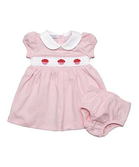 d5ac26f83390 love this product Pink Cupcake Smocked Pima Cotton Bishop Dress   Diaper  Cover - Newborn   Infant