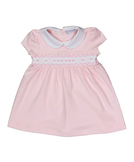 100e66983211 love this product Pink Geometric Smocked Pima Babydoll Dress - Newborn &  Infant