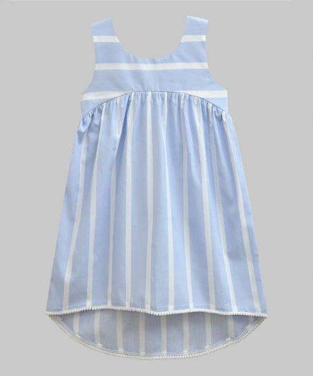 6bc2211d48c9 A.T.U.N. Light Blue   White Stripe Hi-Low Dress - Newborn