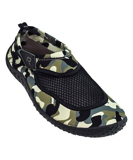 d905fa79941b Rockin Footwear Green Camo Mesh Water Shoe - Men