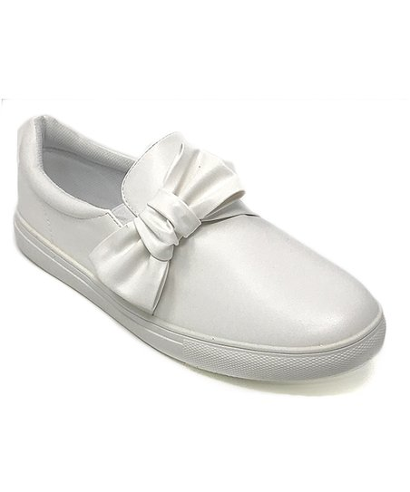 Forever Young White Bow Sneaker - Women