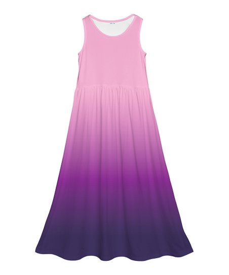 dbbb787ee8a2 Emma   Elsa Pink   Purple Ombré Maxi Dress - Girls