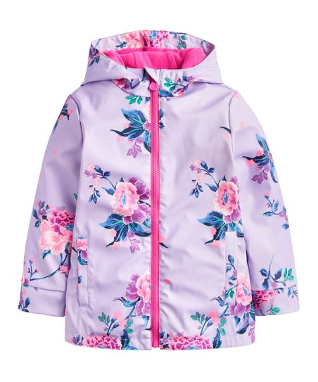cf21dc230 Joules Lilac Chinoiserie Floral Rain Dance Coat | Zulily