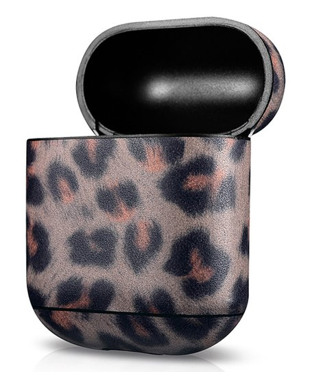 promo code 82867 aa605 Royal Individual Brown Leopard Leather Case for Apple AirPods Charging Case