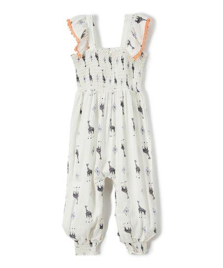 8125e10e72e1 Jessica Simpson Collection Sea Salt Giraffes Playsuit - Toddler
