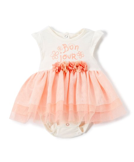 46648dbefd6b Jessica Simpson Collection Sea Salt Skirted Bodysuit - Infant | Zulily