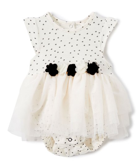 9bc7a4059419 love this product Sea Salt Dot & Floral-Accent Skirted Bodysuit - Infant