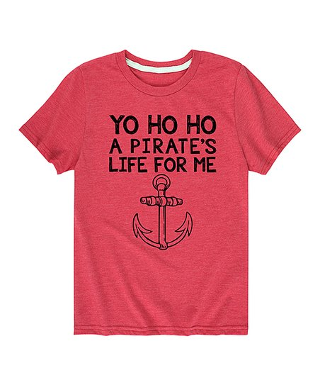 2b5e979f5 Instant Message Heather Red A Pirates Life for Me Tee - Toddler ...