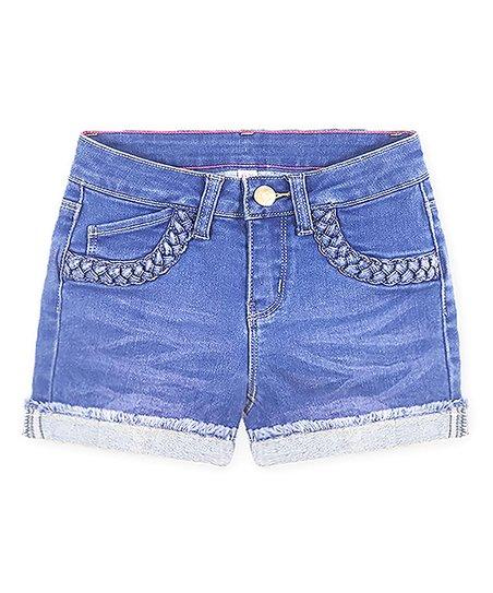 08fcbe384a love this product Blue Jay Braided-Pocket Fringe-Hem Denim Shorts - Toddler  & Girls