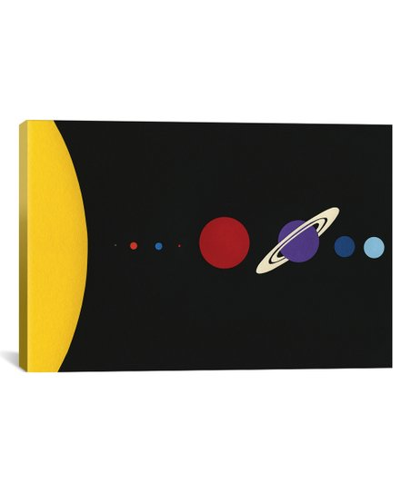 iCanvas Rosi Feist Solar System Wrapped Canvas
