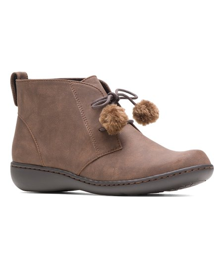 a6b13d18f9f Soft Style by Hush Puppies Brown Jinger Ankle Boot - Women