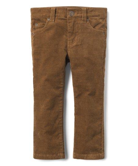 6018a32e5c Janie & Jack Dark Brown Corduroy Pants - Boys