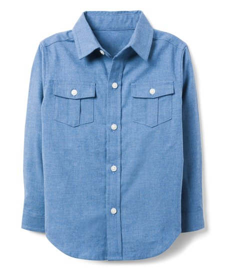 b8cb344f8 love this product Heather Blue Brushed Twill Button-Up - Infant, Toddler &  Boys
