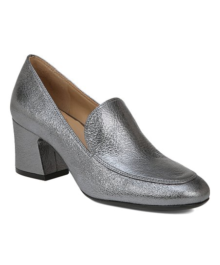 5882c9dd73a love this product Pewter Sparkle Dany Heeled Loafer - Women