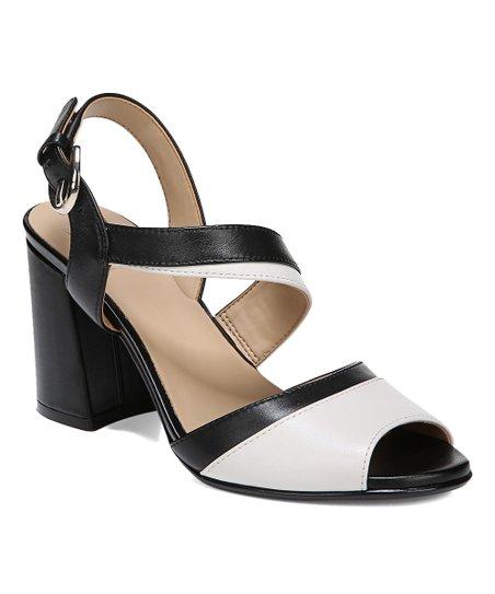 1a291a4331d Naturalizer Alabaster   Black Leather Terah Sandal - Women