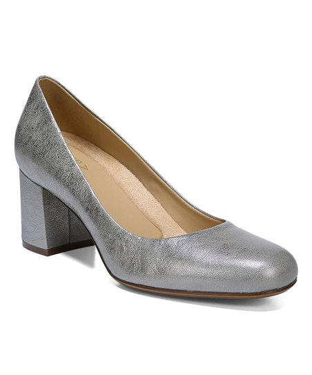 ed257db751 Naturalizer Dark Silver Whitney Leather Pump - Women | Zulily