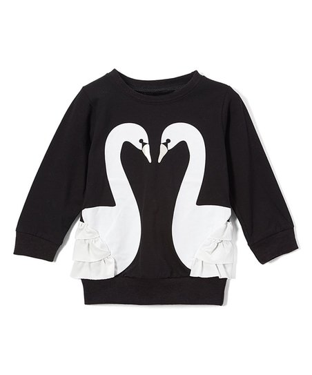 3d4796039 wind + thistle Black Swan Pullover - Infant | Zulily