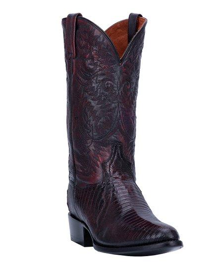 b7508b78935 Dan Post Black Cherry Raleigh Leather Cowboy Boot - Women