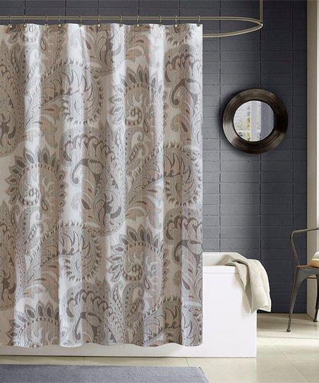 Blush Paisley Shower Curtain