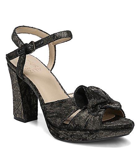 c27ee97c82a8 Naturalizer Black   Gold Crushed Velvet Adelle Sandal - Women
