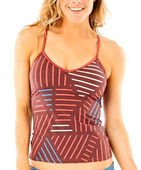 222159183e Carve Designs Merlot Sol Catalina Tankini Top - Women | Zulily