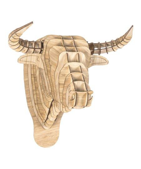 Cardboard Safari Bamboo Toro the Bull Wall Art