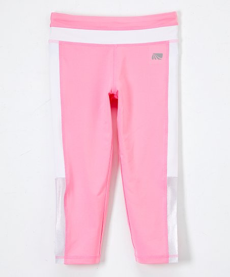 Marika Sachet Pink Stripe Performance Leggings - Girls