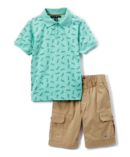 e8ffca83bc Beverly Hills Polo Club Mint Toucan Polo & Tan Cargo Shorts - Infant ...