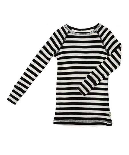 7d80164651 love this product Black & White Wide Stripe Wool Merino Thermal Top -  Infant, Toddler & Kids