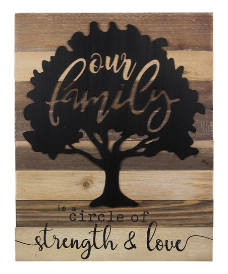 Our Family Is A Circle Of Strength Love Laser Cut Wall Sign Zulily