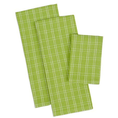 Design Imports Lime Green Pop Heavyweight Kitchen Towels ...