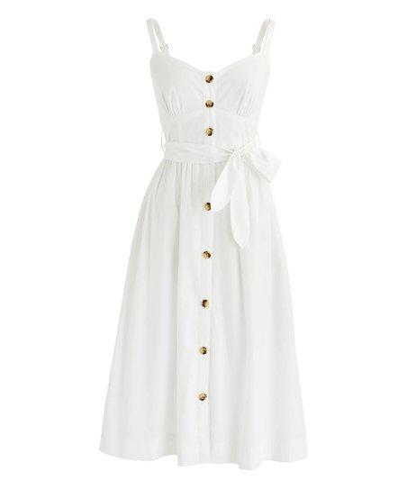 c362d8e77a3 love this product White Rossini Poplin Dress - Women