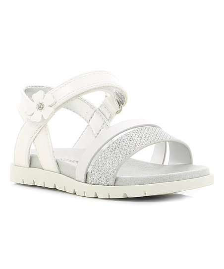 3a795d0426 love this product White & Silver Glitter Lilly Sandal - Girls