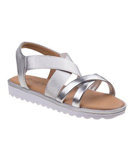 0c4c5f2f8cb Nanette Lepore Girls Silver Metallic Platform Sandal - Girls