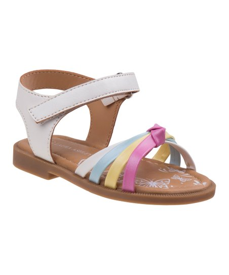 53ef7703ccfc love this product White   Pink Strappy Sandal - Girls