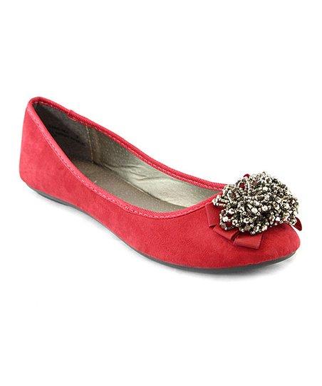 ece43c7266 Lady Boss Red Lady Ballet Flat - Women | Zulily