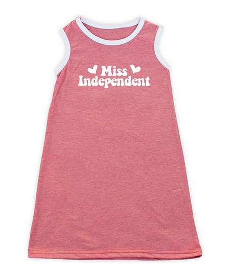 ef86e78a3b62 love this product Heather Red   White  Miss Independent  Tank Dress -  Toddler   Girls